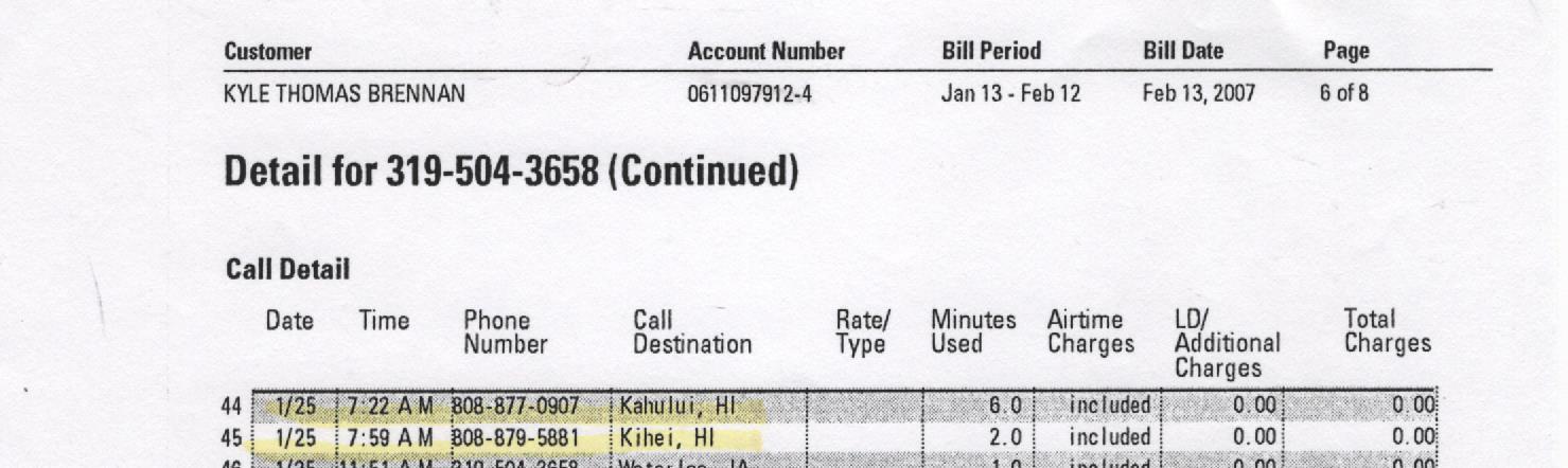 Hawaii cell phone info 001