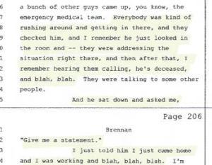 Tom Brennan depo, his son Kyle not worth the words,Blah,Blah 001