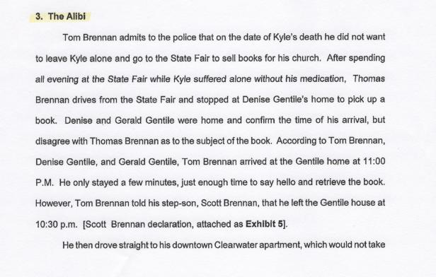 The Alibi, Gerald Gentile, Scientology 001