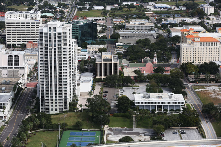 Aerial view of Downtown Clearwater