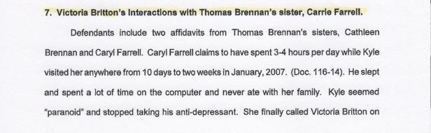 Caryl Brennan Farrell, Scientology, Death of Kyle Brennan 001