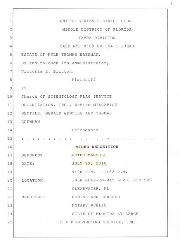Mansell Deposition 001