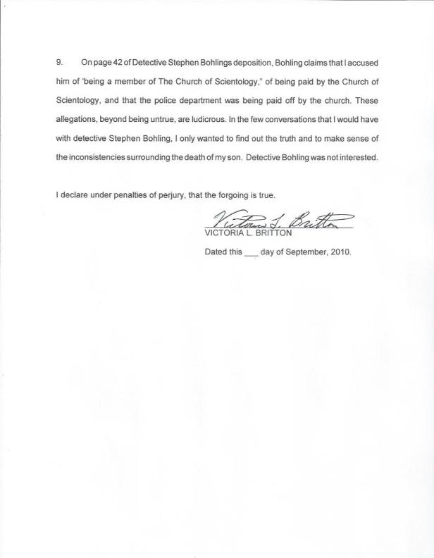 Bohling, Clearwater Police, Britton Affidavit, 001