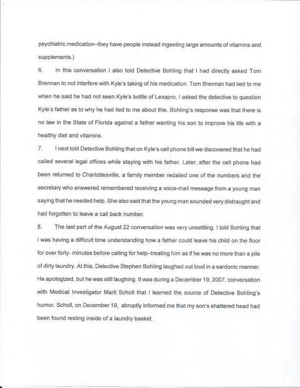 Britton Affidavit, Bohling, Clearwater Police 001