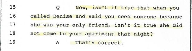 Brennan, Deposition, Denise Alibi, 001