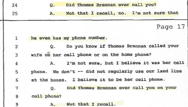 Gerald gentile, Brennan, Phonecall 001