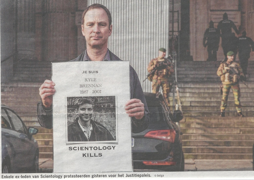 Kyle Brennan Belgium Newspaper Image