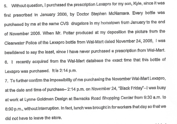 Lexapro, Walmart Bottle, Goldman 001