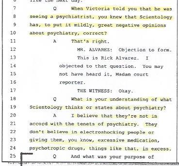 Tom Brennan, Medication, Scientology, 001