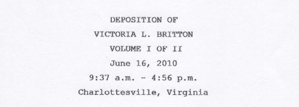 Britton, depo page 001