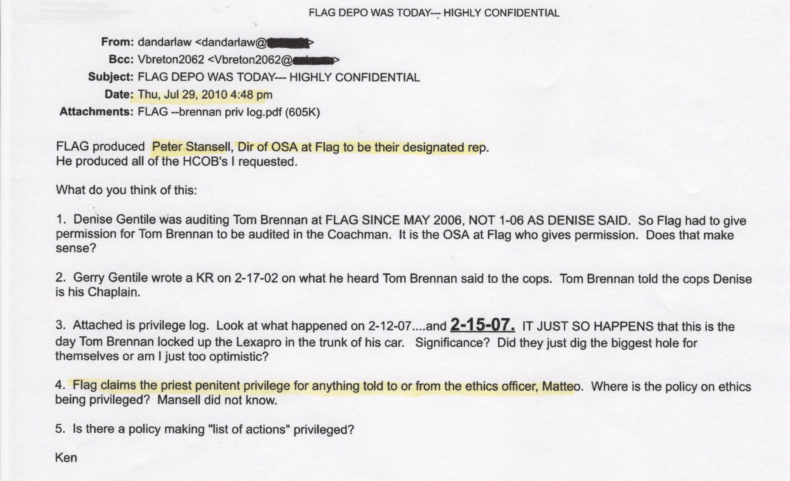Flag Depo Today, Kyle Brennan, Scientology 001