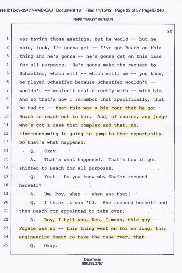 Judge Robert Beach, Clearwater Corruption 001
