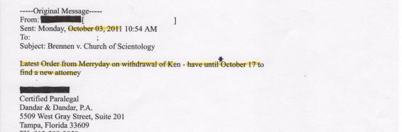 Judge Stephen D. Merryday, Kyle Brennan, Scientology, 001