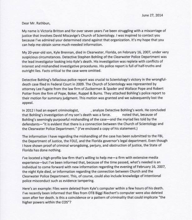 Mark C. Rathbun Letter 001