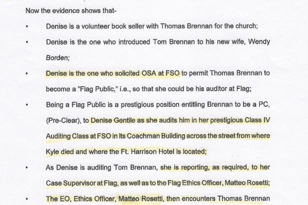Matteo Rosetti, Kyle Brennan, Scientology Ethics 001