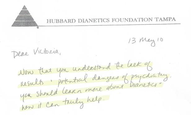 scientology letter 002