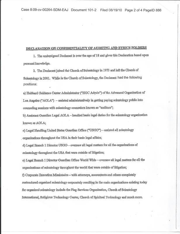 Larry Brennan Affidavit 001