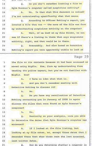 Agent Barbara Mendez, Detective Stephen Bohling, Blog Scientology, 001