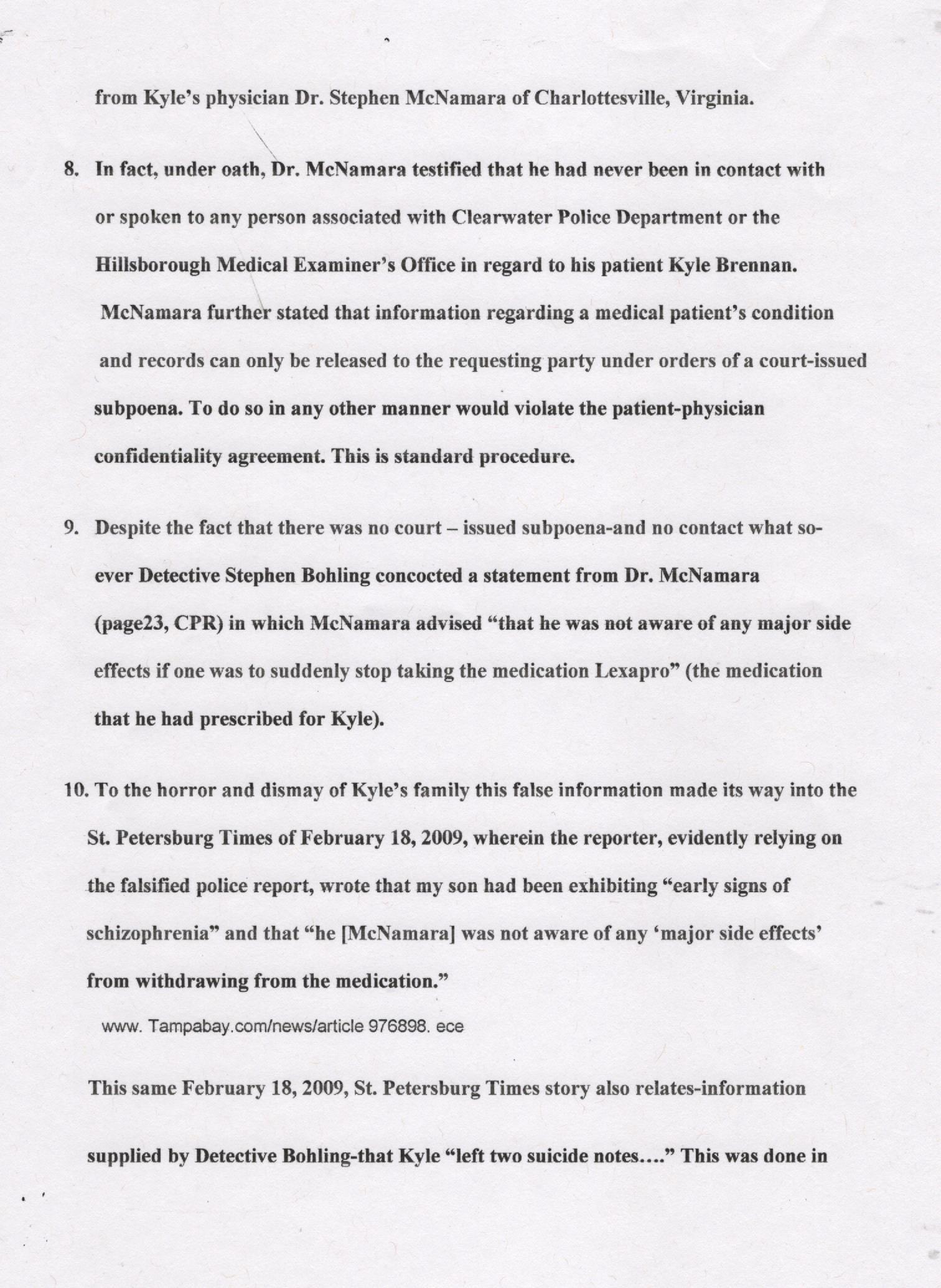 Page Three, Britton Affidavit 001