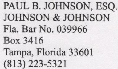 Paul Johnson, Scientology Lawyer 001