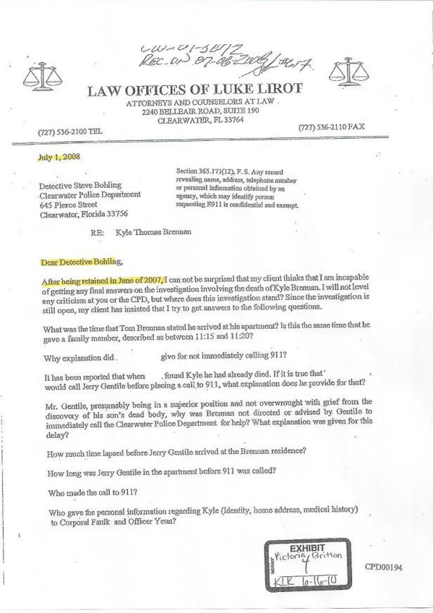 Detective Steve Bohling, Attorney Luke Lirot, Scientology, Kyle 001