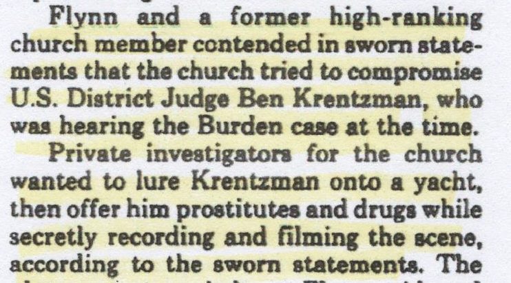 St. Petersburg Times, Paul Johnson, Judge Krentzman 001