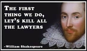Let's Kill all the Lawyers