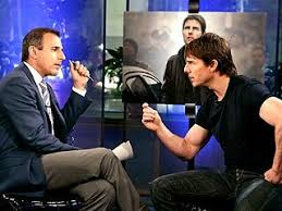 Tom Cruise and Mat Lauer