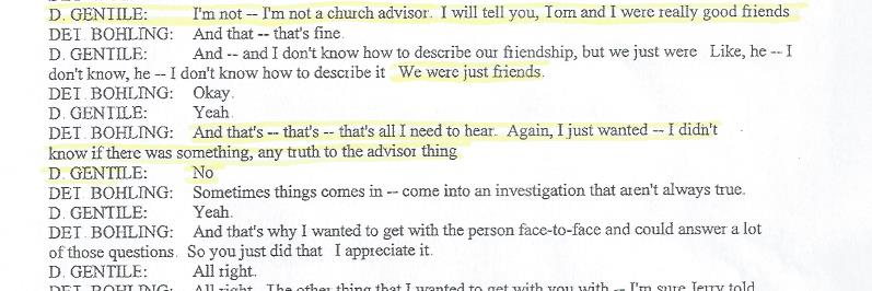 Denise Miscavige Gentile, Church Advisor,Death of Kyle Brennan, 001